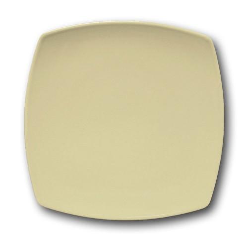 Assiette plate carrée couleur Crème - L 26 cm - Tokio