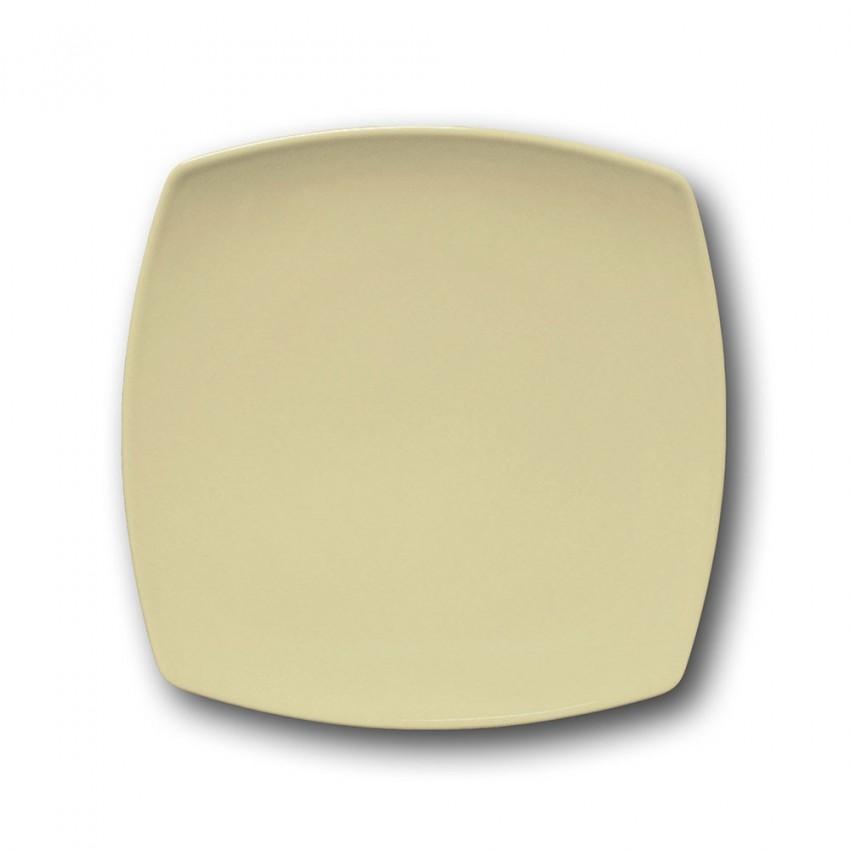Assiette à dessert porcelaine italienne Crème - L 21 cm - Tokio