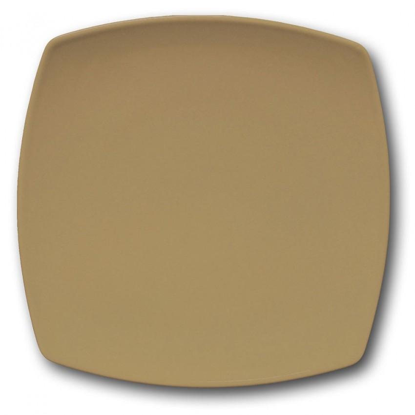 Assiette présentation porcelaine couleur Marron - L 31 cm - Tokio