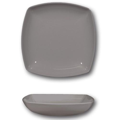 Assiette creuse porcelaine italienne Gris- L 21 cm - Tokio