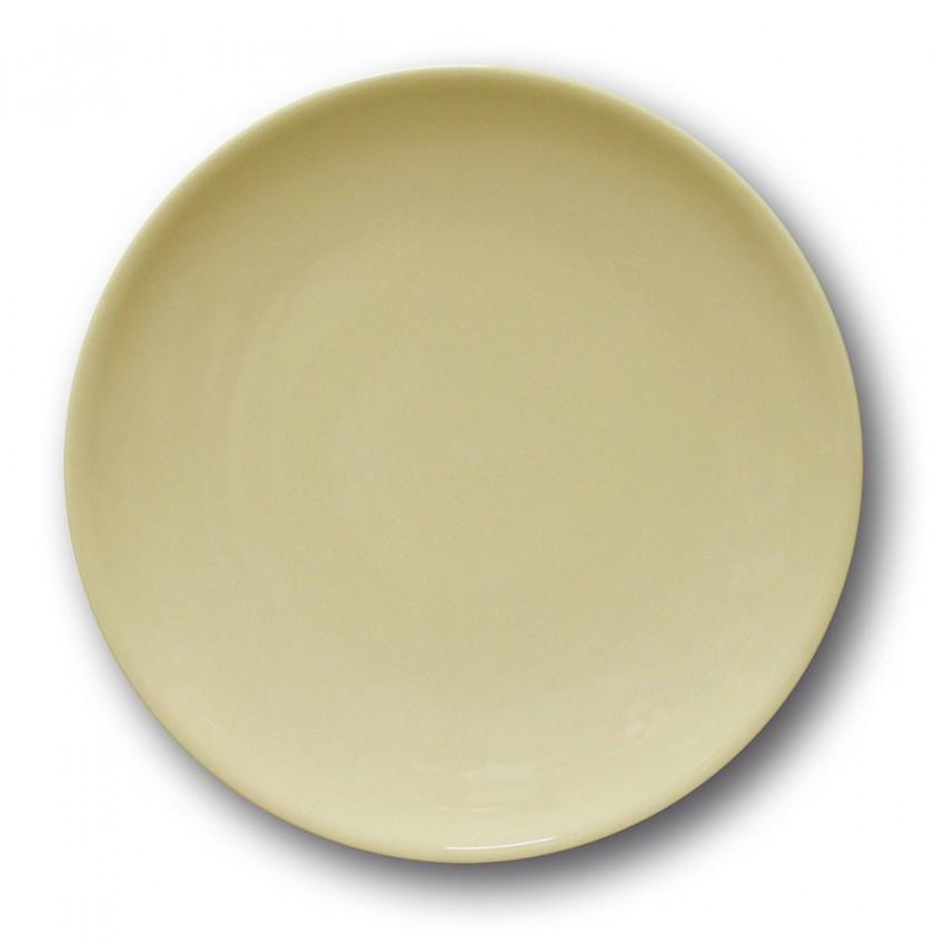 Lot de 6 assiettes à entréee et à dessert couleur Crème - D 21 cm - Siviglia