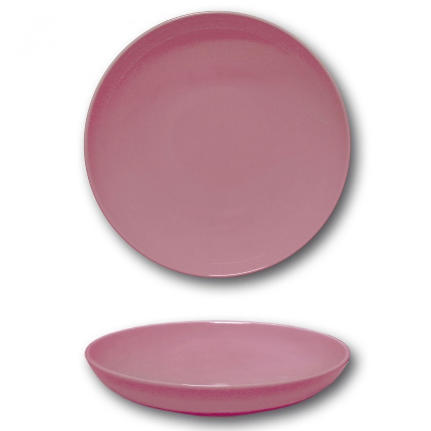 Assiette creuse porcelaine Rose - D 22 cm - Siviglia