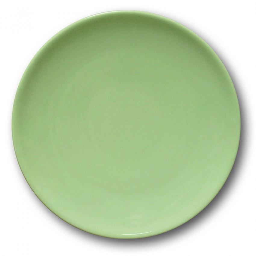 Assiette plate porcelaine Vert- D 26 cm - Siviglia