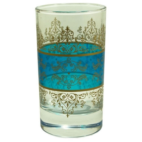 Verres à thé Shéhérazade Bleu, Vert et Jaune x 6