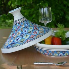 Tajine grande taille (diamètre 31 cm) pour toutes vos recettes orientales. . . #tajine #couscous #vaisselleorientale #tunisie #artdelatable #decoration #vaisselle #servicedetable #vaissellemariage #vaissellechic #faitmain #artisanal #artisanat #vaisselledeco #serviceacouscous #decotable #oriental